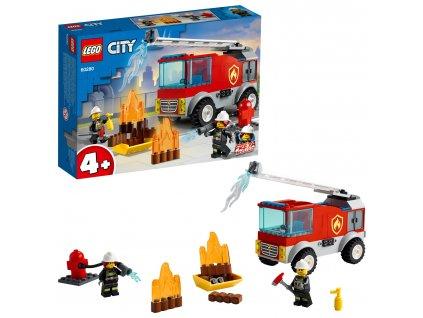 LEGO City Hasičské auto s žebříkem 60280