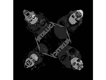 Multifunkční šátek Metallica: Undead (55 x 55 cm) černá bavlna