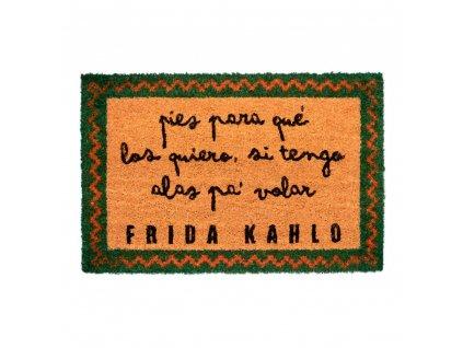 Rohožka Frida Kahlo: Text (60 x 40 cm) hnědá