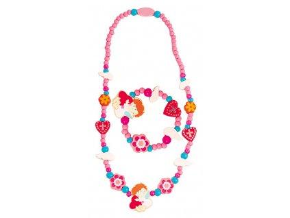 Set 6ks - Souprava náhrdelník a náramek - Anděl
