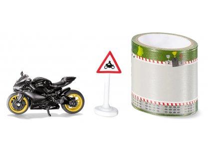 SIKU Blister - motocykl s pásem silnic