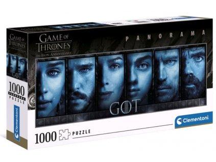Puzzle Game Of Thrones|Hra o trůny: Faces 1000 dílků (98 x 30 cm)