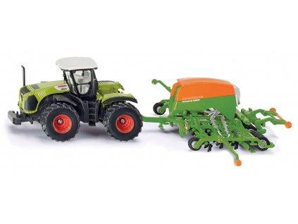 SIKU Farmer - Traktor se secím přívěsem 1:87