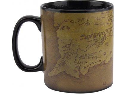 Keramický hrnek Lord Of the Rings Pán prstenů: Mapa (objem 550 ml) černý