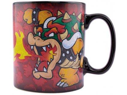 Keramický hrnek Nintendo|Super Mario: Bowsetr (objem 550 ml) černý