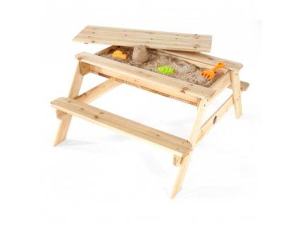 Dřevěný piknikový stůl 2v1
