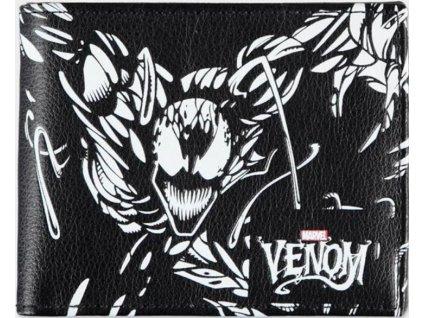 Otevírací peněženka Marvel: Venom (10 x 9 x 2 cm) černá