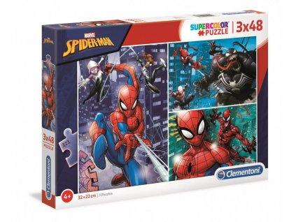 Puzzle Marvel: Spiderman 3 x 48 dílků (22 x 32 cm)
