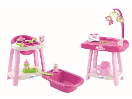 Nursery židlička, vanička a přebalovací pult pro panenky
