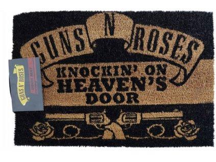 Rohožka Guns'n'Roses: Knockin On Heavens Door (60 x 40 cm) černá