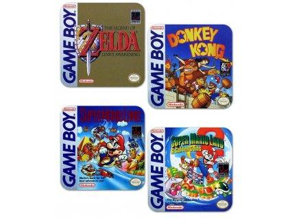Tácky pod sklenice Nintendo|Gameboy: Classic Collection balení 4 kusů (10 x 10 cm)
