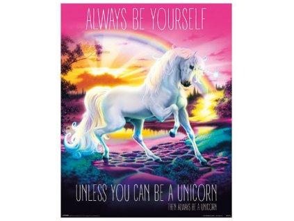 Plakát Unicorn: Always Be Yourself (40 x 50 cm)