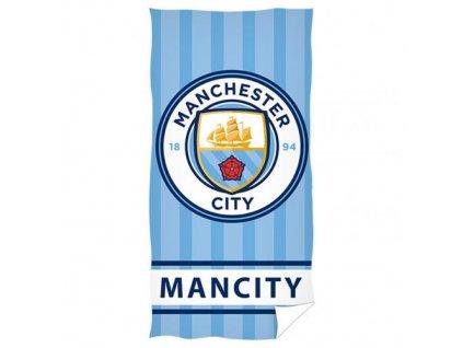 Osuška Manchester City FC: Znak (70 x 140 cm) modrá bavlna