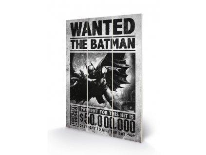 Obraz - malba na dřevě DC Comics Batman: Wanted (20 cm x 29,5 cm)