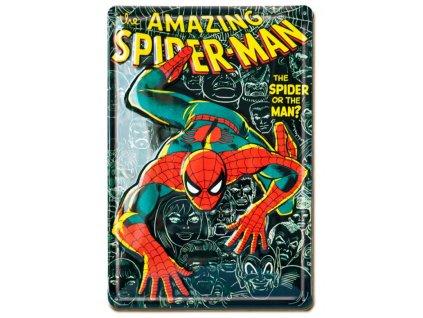 Plechová dekorativní 3D cedule na zeď Marvel: The Amazing Spiderman (20 x 30 cm)