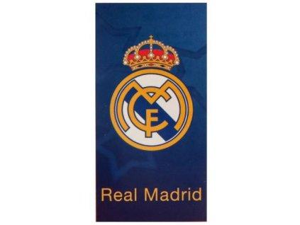 Osuška - ručník FC Real Madrid: Logo (70 x 140 cm) modrá bavlna
