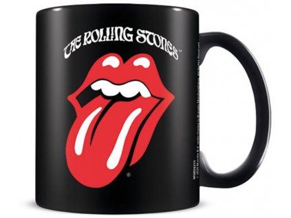 Keramický hrnek The Rolling Stone: Retro Tongue (objem 315 ml) černý