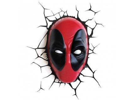 Dekorativní lampa na zeď Marvel: Deadpool červená
