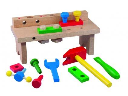 Stůl s nářadím dřevěnný
