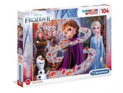 Puzzle 104 dílků Glitter - Frozen 2