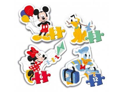 Puzzle 3+6+9+12 dílků My first puzzle - Mickey Mouse