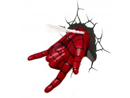 Dekorativní lampa na zeď Marvel: Spiderman 3D ruka (15 x 19 x 13 cm) červená