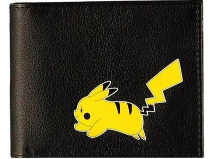 Otevírací peněženka Pokémon: Pikachu logo (9 x 10 x 2 cm) černý polyuretan - polyester
