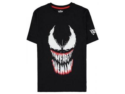 Pánské tričko Marvel|Venom: Face (S) černá bavlna