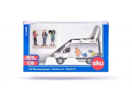 SIKU Super - velký přenosový vůz s televizním štábem 1:50