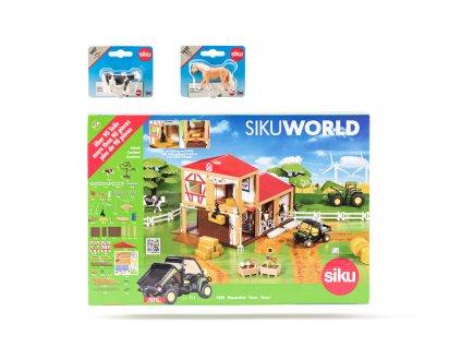 SIKU World - farma, 2 koně a 2 krávy