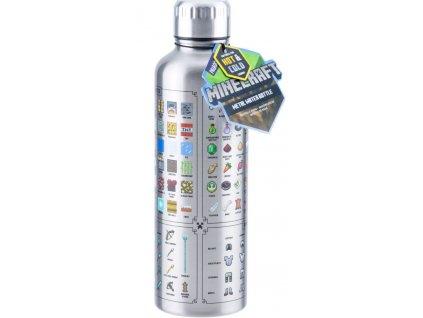 Nerezová láhev na pití Minecraft: Zbraně (objem 500 ml)