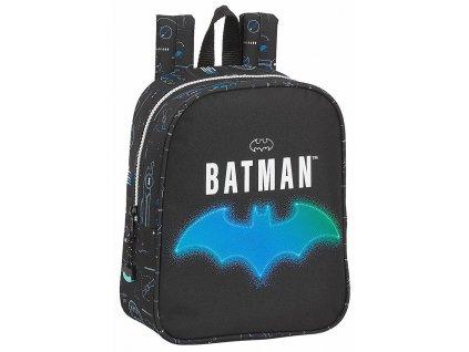 Dětský mini batoh DC Comics|Batman: Bat-Tech (objem 6 litrů|22 x 27 x 10 cm) černý polyester