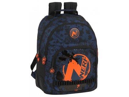 Školní batoh Nerf: (objem 20 litrů|32 x 42 x 15 cm) černý polyester