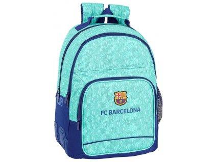 Školní batoh FC Barcelona: (objem 20 litrů|32 x 42 x 15 cm) tyrkysový polyester