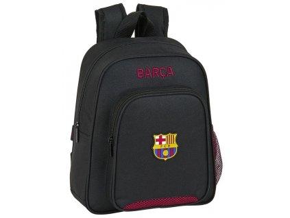 Malý batoh FC Barcelona: (objem 9 litrů 33 x 27 x 10 cm) černý polyester