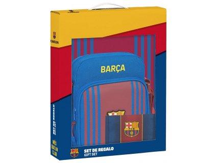 Dárkový set FC Barcelona: 21/22 taška, peněženka, blok A4 (28 x 35 x 6 cm)