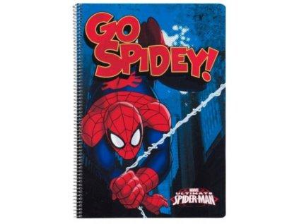 A4 sešit blok v kroužkové vazbě Marvel|Spiderman: Ultimate (A4 21,5 x 31 cm) 80 listů
