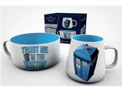 Keramický set Doctor Who: Tardis (objem misky 858 ml hrnek 385 ml)