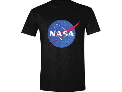 Pánské tričko NASA: Logo  černé bavlna