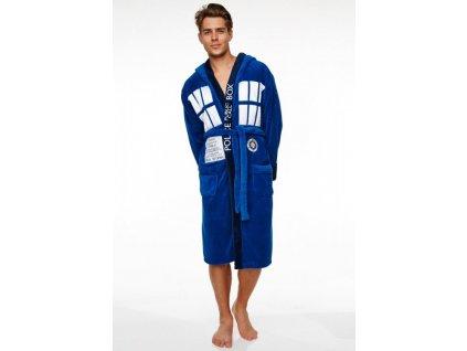 Pánský fleece župan Doctor Who: Police Box (univerzální) modrý