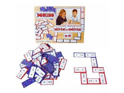 Domino sčítání a odčítání