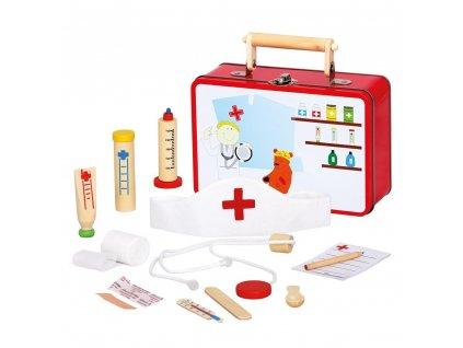Lékařský dřevěný kufřík