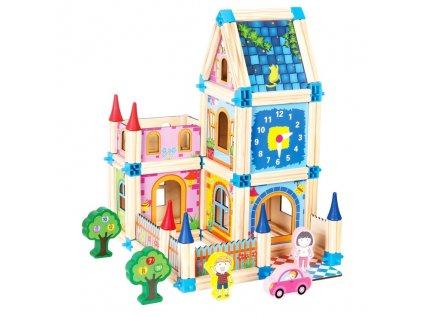 Dřevěné kocky - zámek