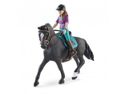 Hnědovláska Lisa s pohyblivými klouby na koni