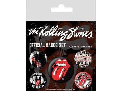 Placky The Rolling Stones: Classic set 5 kusů (2,5 cm|3,8 cm)