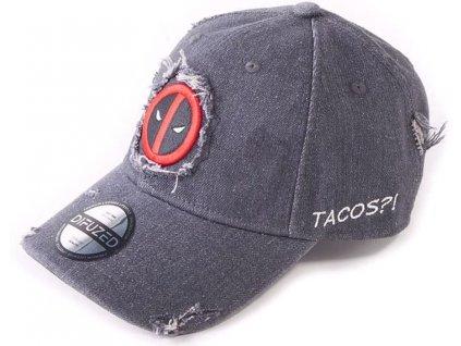 Kšiltovka Marvel Deadpool: Tacos?! (nastavitelná)