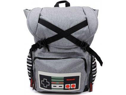 Batoh Nintendo: Nes Controller (objem 41 litrů|43 x 48 x 20 cm) šedý polyester
