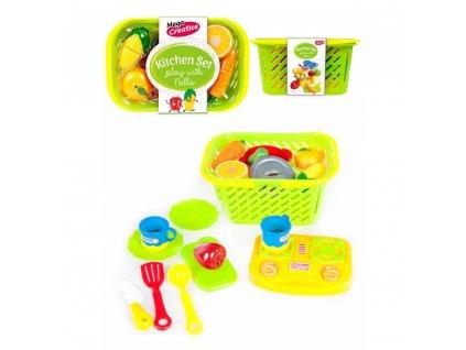 Krájecí souprava - zelenina a ovoce v košíku, plast