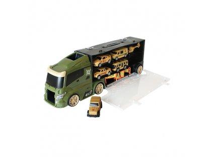 Vojenský kamion s autíčky - kufřík