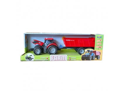 Traktor s vyklápěcí vlečkou se zvukem a světlem